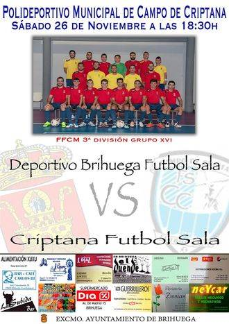 Moral alta del Deportivo Brihuega frente al Criptana FS tras la última victoria