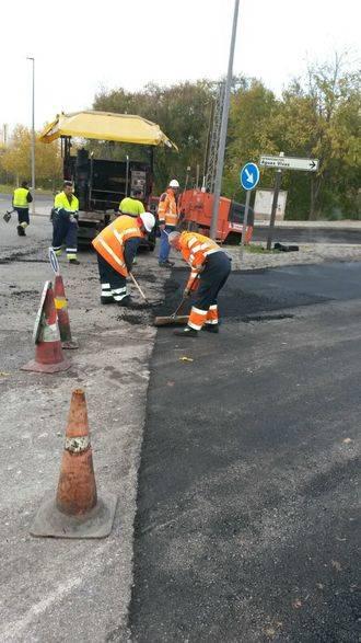 A punto de finalizar las obras de reparación de la junta de dilatación del puente de Aguas Vivas