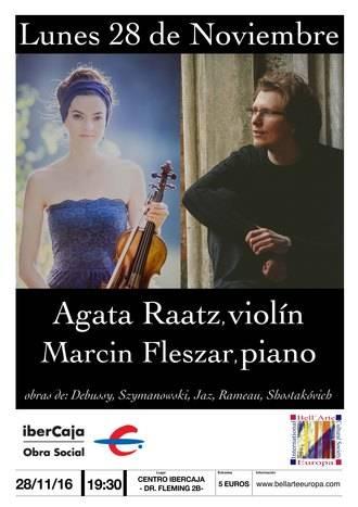 Este lunes en Guadalajara, concierto de violín y piano, el dúo que unió las vidas de Marcin Fleszar y Agata Raatz