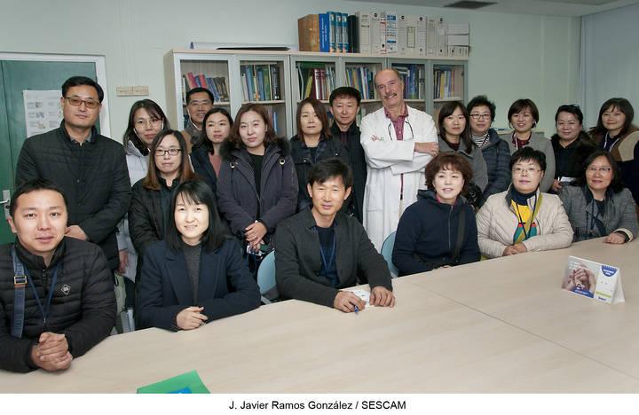 Funcionarios de Sanidad y Bienestar Social de Corea del Sur conocen en el Centro de Salud Guadalajara-Sur el modelo español de Atención Primaria