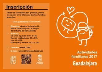 Arrancan las actividades familiares de la Concejalía de Turismo de Guadalajara