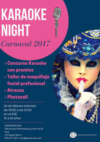 'Karaoke Night' de Carnaval este viernes en Azuqueca de Henares