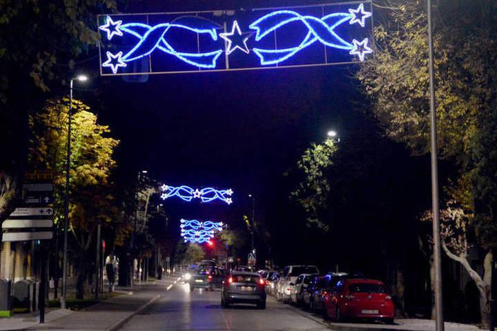 Imagen de las luces navideñas del año pasado. Fotografía: Álvaro Díaz Villamil/Ayuntamiento de Azuqueca