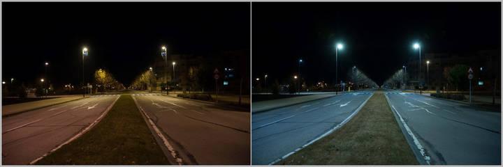 Farolas LED para iluminar las calles de Valdeluz