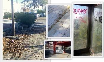 Denuncian la imagen de abandono que ofrecen los barrios de Azuqueca por la dejadez del Equipo de Gobierno del socialista Blanco