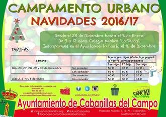 Del 2 al 16 de diciembre, plazo de inscripción para el Campamento Urbano Infantil de estas navidades