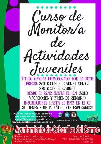 El Centro Joven de Cabanillas ofrece sacarse el título de Monitor de Actividades Juveniles esta Navidad