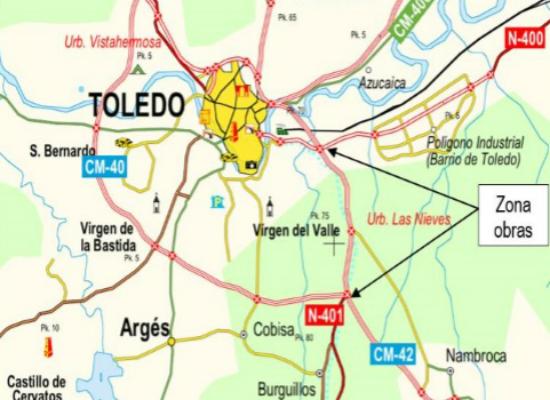 ATENCIÓN : Cortes de tráfico en horario nocturno en la autovía A-42 entre los kilómetros 73,0 y 77,5, sentido Madrid