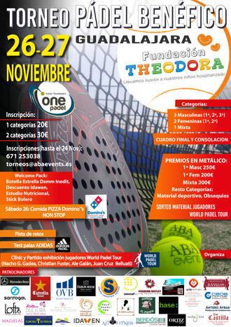 Guadalajara acoge un torneo benéfico de pádel por la Fundación Theodora