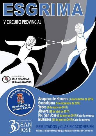El sábado 3 en Azuqueca, primera jornada del V Circuito Provincial de Esgrima