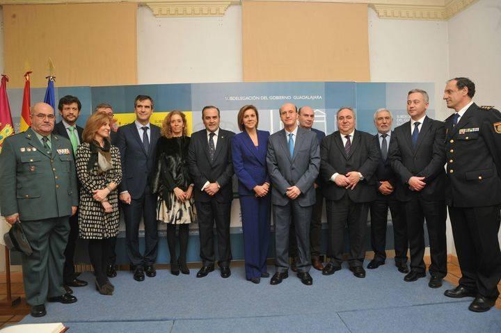 La ministra Cospedal asiste a la toma de posesión del subdelegado del Gobierno en Guadalajara