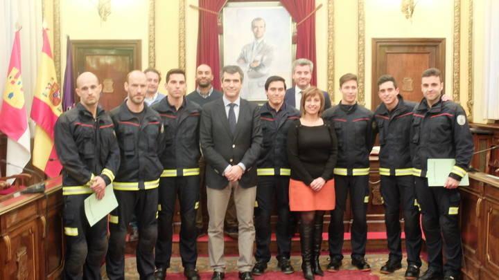 Siete nuevos bomberos para el Servicio de Extinción de Incendios de Guadalajara
