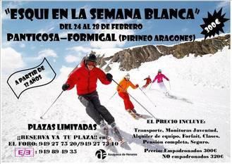 Abierto el plazo para inscribirse en 'Esquí en la Semana Blanca' de Azuqueca