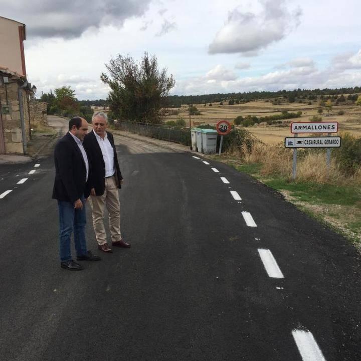 La Diputación finaliza las obras de mejora de la carretera de Armallones