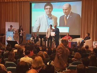Latre recoge el reconocimiento de UNICEF por el trabajo a favor de la infancia en la Diputación