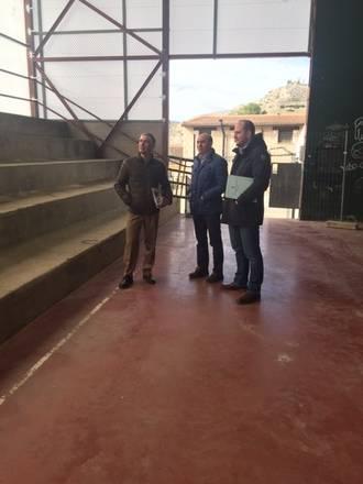 El presidente de la Diputación comprueba el resultado de varias obras de mejora en instalaciones deportivas de la provincia