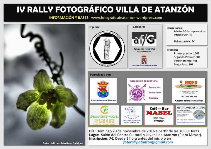 Atanzón se prepara para la celebración de su IV Rally Fotográfico