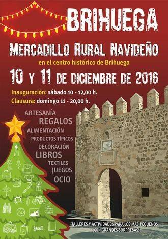 Brihuega se prepara para la Navidad con un mercado rural los días 10 y 11 de diciembre en su centro histórico