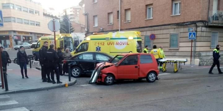 Cuatro heridos en dos accidentes de tráfico por las calles de Guadalajara