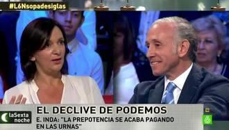 Carolina Bescansa a Eduardo Inda en el camerino de LaSexta:
