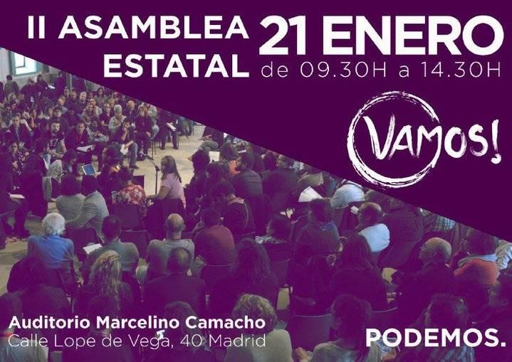 Unas 100 personas de Podemos C-LM asisten a la II Asamblea Estatal Vamos!