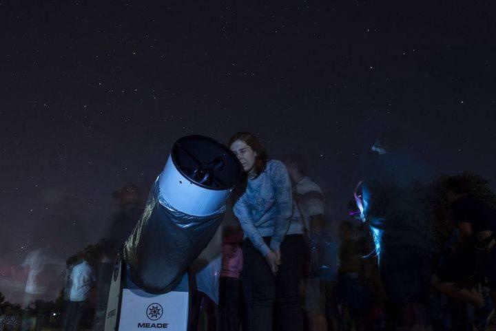 Con la Luna llena de febrero se inician las observaciones astronómicas desde Valdenazar