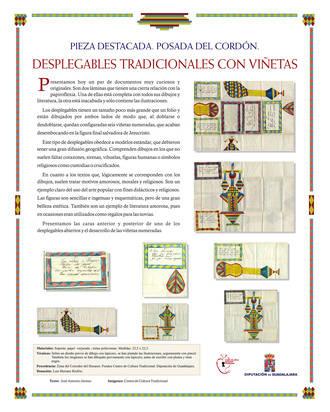 Exposición de desplegables tradicionales en la