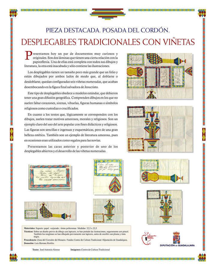 """Exposición de desplegables tradicionales en la """"Posada del Cordón"""" de Atienza"""