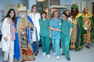 Los Reyes Magos visitaron el Hospital Universitario de Guadalajara
