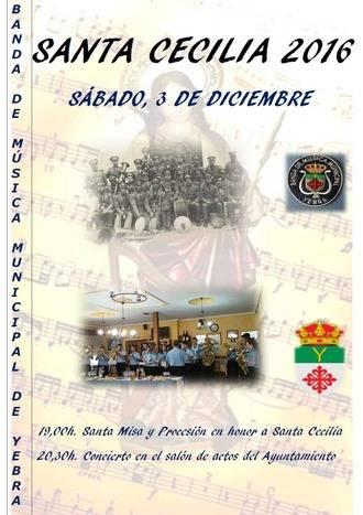 La Banda de Música de Yebra celebra los actos en honor a su patrona, Santa Cecilia, el próximo 3 de diciembre