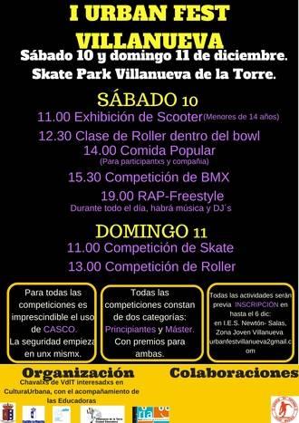 Villanueva de la Torre organiza este fin de semana el I Urban Fest Villanueva, un evento en torno a la cultura urbana
