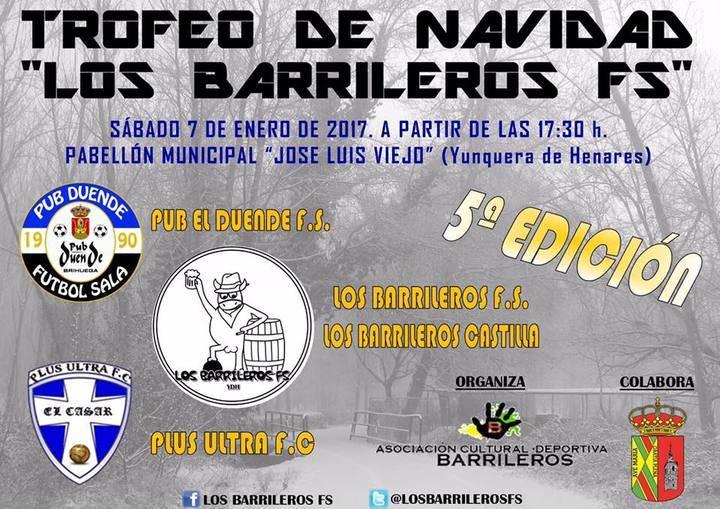 Los Barrileros FS, de Yunquera, organizan su Torneo de Navidad