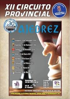 El domingo 27, segunda jornada del XII Circuito Provincial de Ajedrez Infantil en Sigüenza