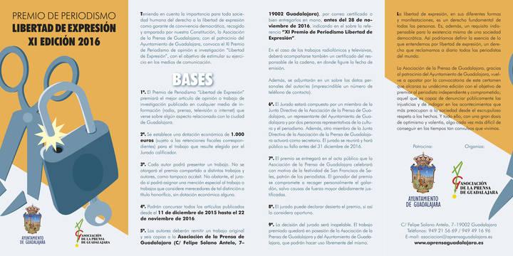 """La Asociación de la Prensa de Guadalajara convoca su XI Premio """"Libertad de Expresión"""""""
