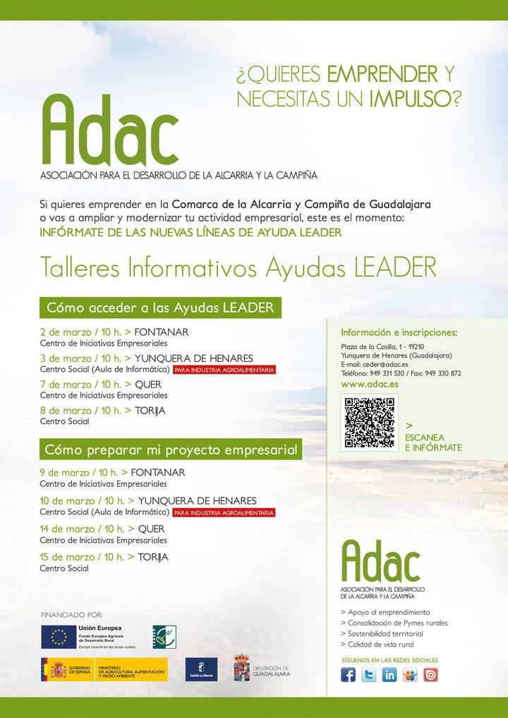 ADAC programa ocho talleres informativos de las Ayudas LEADER