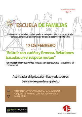 Escuela de Familias ofrece una nueva sesión el día 17 en Azuqueca