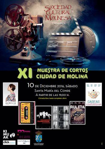 Todo listo para la celebración dela XI Muestra de Cortos 'Ciudad de Molina'