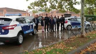 Dos vehículos patrulla nuevos para la Policía Local de Alovera