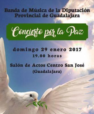 """La Banda de Música de la Diputación de Guadalajara ofrecerá el próximo domingo un 'Concierto por la paz"""""""