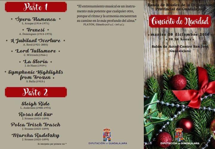 La Banda de Música de la Diputación de Guadalajara ofrecerá el próximo martes 20 un variado y alegre
