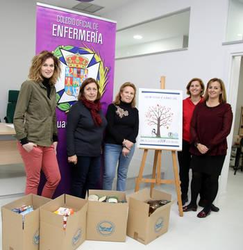 El Colegio de Enfermería de Guadalajara recoge más de 200 kilos para el Banco de Alimentos