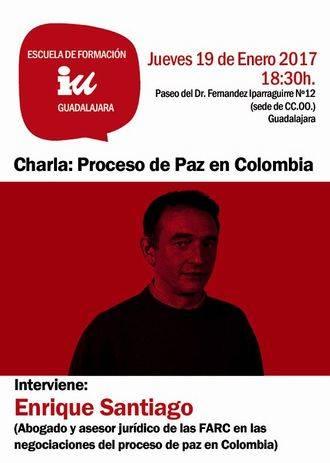 IU Guadalajara se trae a Enrique de Santiago para hablar del proceso de paz en Colombia
