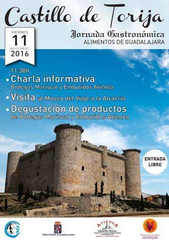 La Diputación organiza una Jornada para promocionar nuestra gastronomía y turismo en el castillo de Torija