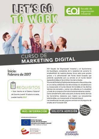 Se amplia hasta febrero el plazo de inscripción para el curso de Marketing Digital en Guadalajara
