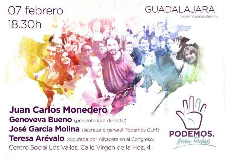 Podemos trae a Guadalajara a uno de sus pesos pesados: Juan Carlos Monedero