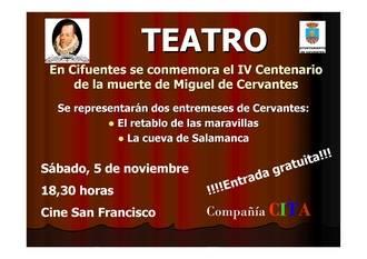 Cifuentes conmemora el IV Centenario de la muerte de Miguel de Cervantes
