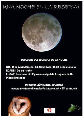 Abierta en Azuqueca la inscripción en la actividad infantil 'Una noche en la Reserva'