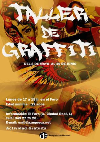 Abierta la inscripción en el taller de grafiti para mayores de 12 años en Azuqueca
