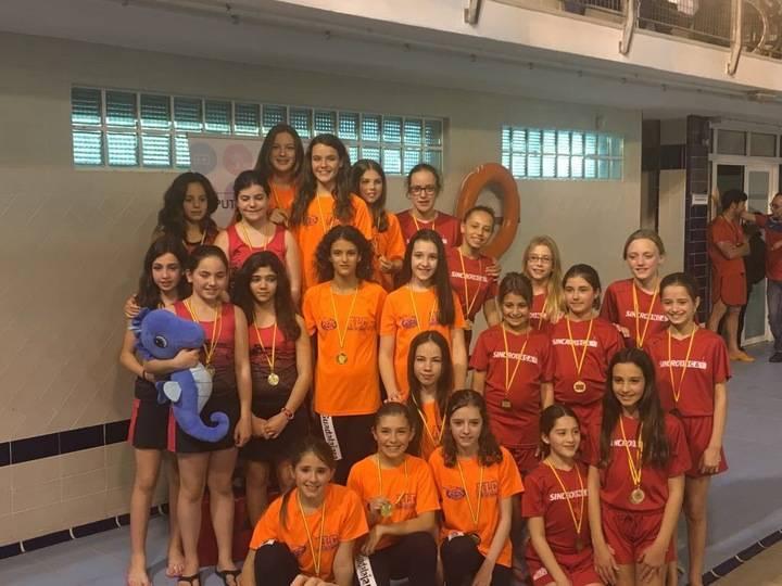 Las alevines de sincro del Alcarreño, campeonas regionales