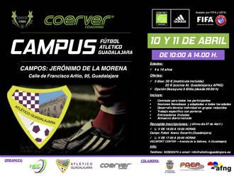 Inscripciones abiertas para el I Campus de Semana Santa del Atlético Guadalajara con metodología COERVER